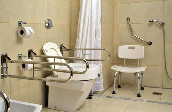 Baños Adaptados Para Personas Con Discapacidad:Habitación Discapacitados