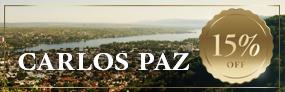 Marzo en Carlos Paz: 15% Off!