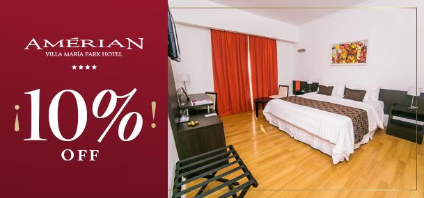 10 % OFF in Villa María