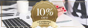 10% OFF Adicional por Reserva Online