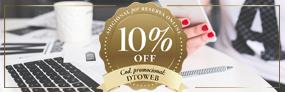 10% OFF supplémentaires pour Réservations en ligne